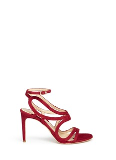 CHELSEA PARIS'Tulay' wavy suede caged sandals