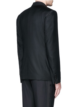 Back View - Click To Enlarge - Dolce & Gabbana - Satin peak lapel wool-silk tuxedo blazer and waistcoat set