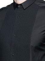 'Gold' piqué bib tuxedo shirt