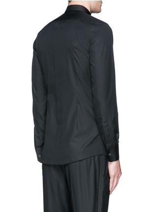 Back View - Click To Enlarge - Dolce & Gabbana - 'Gold' piqué bib tuxedo shirt