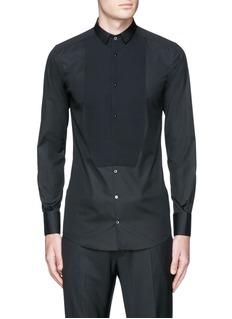 Dolce & Gabbana'Gold' piqué bib tuxedo shirt
