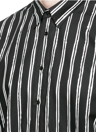 Detail View - Click To Enlarge - Dolce & Gabbana - Vertical stripe cotton poplin shirt
