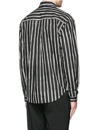 Back View - Click To Enlarge - Dolce & Gabbana - Vertical stripe cotton poplin shirt