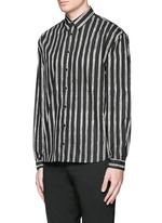 Vertical stripe cotton poplin shirt
