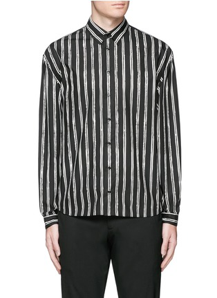 Main View - Click To Enlarge - Dolce & Gabbana - Vertical stripe cotton poplin shirt