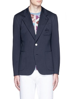 Dolce & GabbanaCrown embroidery jersey blazer