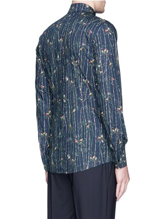 Back View - Click To Enlarge - Dolce & Gabbana - 'Gold' bird and bamboo print poplin shirt