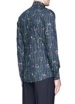 'Gold' bird and bamboo print poplin shirt