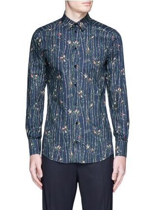 Main View - Click To Enlarge - Dolce & Gabbana - 'Gold' bird and bamboo print poplin shirt