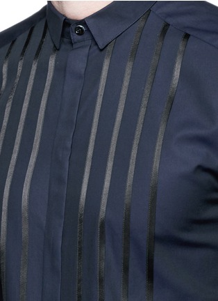 Detail View - Click To Enlarge - Dolce & Gabbana - 'Gold' satin stripe tuxedo shirt