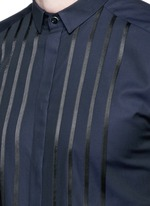 'Gold' satin stripe tuxedo shirt