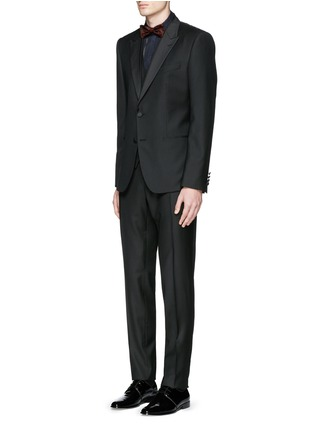 Figure View - Click To Enlarge - Dolce & Gabbana - 'Gold' satin stripe tuxedo shirt