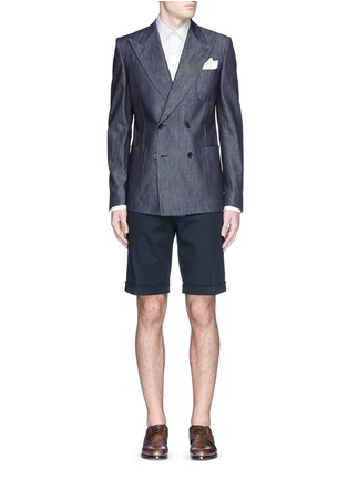 Figure View - Click To Enlarge - Dolce & Gabbana - Rolled cuff chino shorts