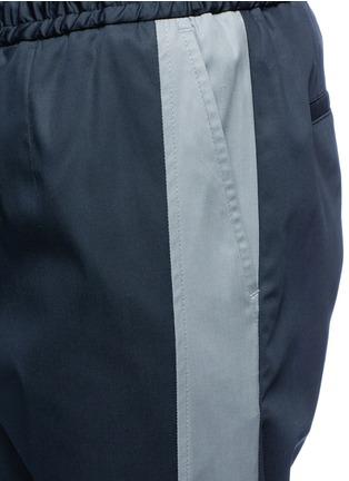 细节 - 点击放大 - DOLCE & GABBANA - 竖纹拼接运动裤