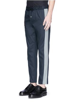 正面 -点击放大 - DOLCE & GABBANA - 竖纹拼接运动裤