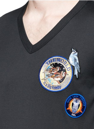 Detail View - Click To Enlarge - Dolce & Gabbana - Patch embroidery cotton T-shirt