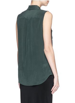 Back View - Click To Enlarge - Equipment - 'Slim Signature' silk shirt