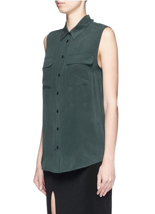 Front View - Click To Enlarge - Equipment - 'Slim Signature' silk shirt