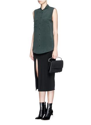 Figure View - Click To Enlarge - Equipment - 'Slim Signature' silk shirt