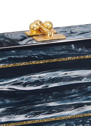 Detail View - Click To Enlarge - EDIE PARKER - 'Fiona' faceted glitter acrylic clutch