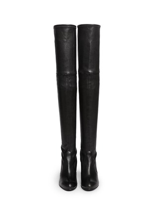 Stuart Weitzman - 'highland' Stretch Leather Thigh High Boots ...