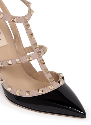 Valentino-'Rockstud' caged patent leather pumps