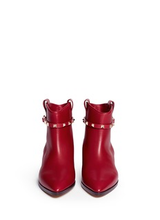 VALENTINO 'Rockstud' strap leather cowboy boots