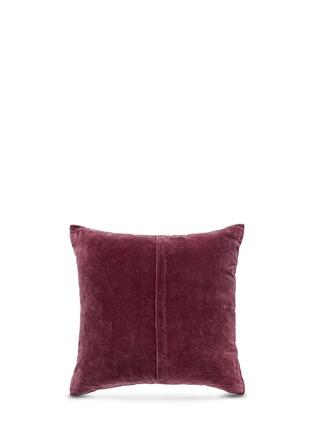 Etro-Montrose Foss bead paisley embroidery velvet cushion