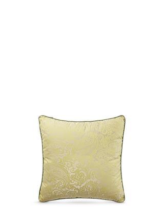 Etro-Hamilton Cranberry paisley jacquard cushion