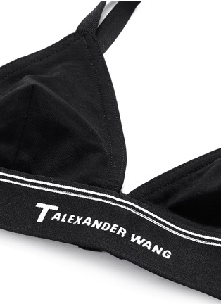Detail View - Click To Enlarge - T By Alexander Wang - Logo band cross back triangle sports bra