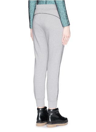 Back View - Click To Enlarge - T By Alexander Wang - Velvet drawstring fleece lined sweatpants