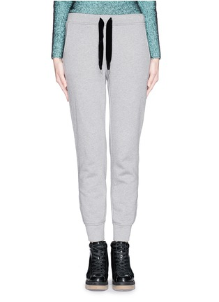 Main View - Click To Enlarge - T By Alexander Wang - Velvet drawstring fleece lined sweatpants