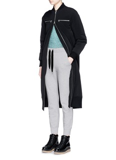 T BY ALEXANDER WANG Velvet drawstring fleece lined sweatpants