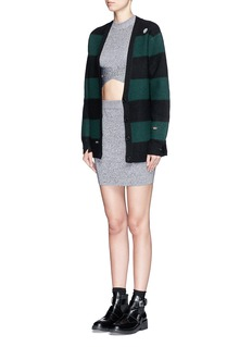 T BY ALEXANDER WANG Rib knit mini skirt