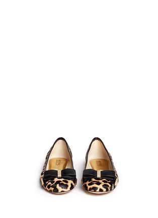 Figure View - Click To Enlarge - Michael Kors - 'Kiera' cheetah print calf hair ballet flats