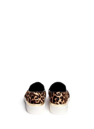 Back View - Click To Enlarge - Michael Kors - 'Kyle' cheetah print calf hair slip-ons
