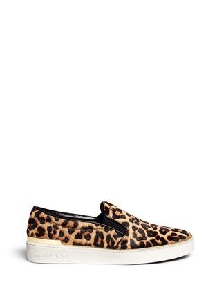 Main View - Click To Enlarge - Michael Kors - 'Kyle' cheetah print calf hair slip-ons