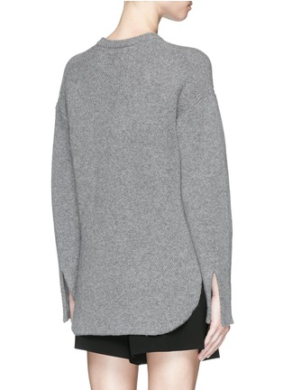 Back View - Click To Enlarge - Alexander Wang  - Wool-cashmere knit sweater