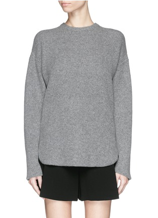 Main View - Click To Enlarge - Alexander Wang  - Wool-cashmere knit sweater