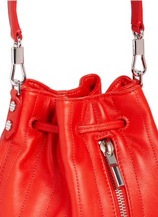 Detail View - Click To Enlarge - Elizabeth and James - 'Cynnie' mini quilted leather bucket bag