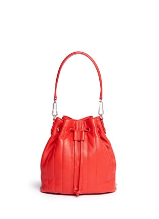Back View - Click To Enlarge - Elizabeth and James - 'Cynnie' mini quilted leather bucket bag