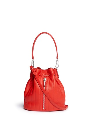 Main View - Click To Enlarge - Elizabeth and James - 'Cynnie' mini quilted leather bucket bag