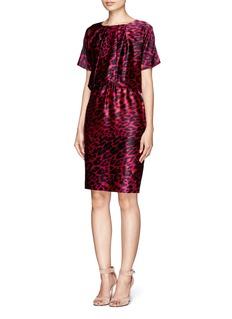 ST. JOHNLeopard silk dress with gathered waistline