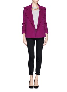 ST. JOHN Wide notched lapel blazer