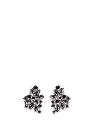 Main View - Click To Enlarge - ST. JOHN - 'Night Bloom' crystal laurel earrings