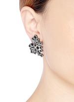 ST. JOHN'Night Bloom' crystal laurel earrings