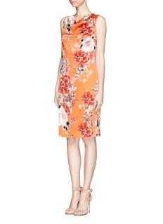 ST. JOHNChrysanthemum print drape shift dress