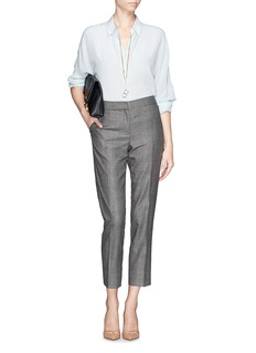 ST. JOHN 'Emma' plaid crepe pants