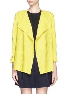 ST. JOHNPlissé front milano knit jacket