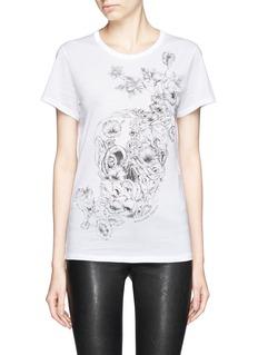 ALEXANDER MCQUEENFloral skull print cotton T-shirt
